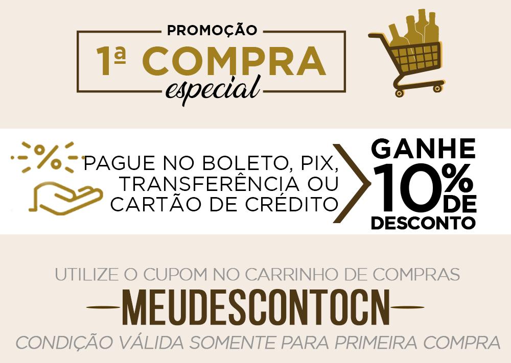 Banner Desktop Categoria Cachaça 10%OFF primeira compra